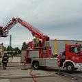 Pożar modułu filtracyjnego na terenie zakładu przemysłowego w Koźminie wielkopolskim