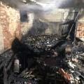 Nocny pożar budynku gospodarczego